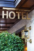 Hotel sign — Stock Photo