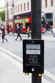 Pedestrian button in London — Stock Photo