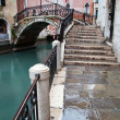 Typical canal scene with old bridge in Venice, Italy — Stock Photo #52159567
