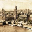 Aerial view of London in a vintage style — Stock Photo #52165161