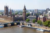 London in an aerial view — Stock Photo