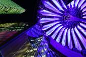 Sony Center in Berlin, Germany, at night — Stock Photo