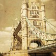 Vintage style picture of the Tower Bridge in London — Stockfoto