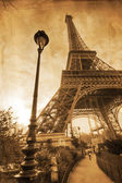 Eiffel Tower in Paris in vintage style processing — Stock fotografie