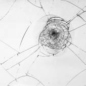 Cracked glass — Stock Photo