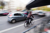 Traffic in motion blur — Stock Photo