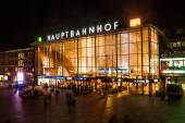 Cologne Main Station at night — Stock Photo