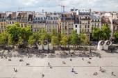 View from the Centre Pompidou on the square and the city in Paris, France — Stock Photo
