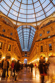 Galleria Vittorio Emanuele II at night — Stock Photo