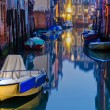 Night scene of a typical canal in Venice, Italy — Stock Photo #54445135