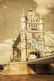Vintage style picture of the Tower Bridge in London, UK — Stock Photo