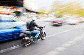 Street scene in motion blur — Stock Photo