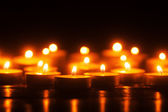 Tealights in the dark — Stock Photo