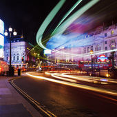 Night at Piccadilly Circus in London, UK — Foto de Stock
