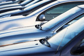 Row of parking cars — Stock Photo