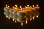 Candles with reflection — Stock Photo
