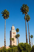Minaret of the famous Koutoubia Mosque in Marrakesh — Stock Photo