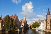 Rozenhoedkaai in Bruges, Belgium — Stock Photo