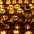 Rows of arabic lanterns with burning candles — Stock Photo #54594173