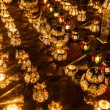 Rows of arabic lanterns with burning candles — Stock Photo #54594207