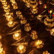 Rows of arabic lanterns with burning candles — Stock Photo #54594825