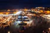 Famous square Djema el Fnaa in Marrakech, Morocco — Fotografia Stock