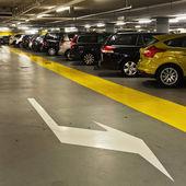 Underground parking garage — Stock Photo