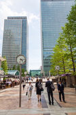 Financial district Canary Wharf in London, UK — Foto de Stock