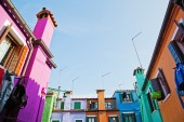 Colorful houses in Burano, Italy — Stock Photo