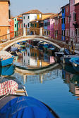Picturesque view of Burano, near Venice, Italy — Foto Stock