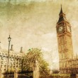 Vintage style picture of the Big Ben and Westminster Palace in London, England — Stock Photo #54662511