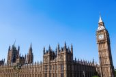 Big Ben and Westminster Palace in London, England — Stock Photo