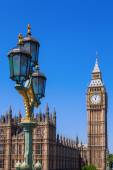 Big Ben and Westminster Palace in London, England — Foto Stock