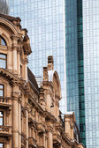 Contrast of old and new buildings in Frankfurt, Germany — Stock Photo