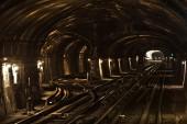 Metro tunnel in Paris, France — Stock Photo