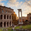 Постер, плакат: Marcellus Theatre with ancient columns and excavations in Rome Italy