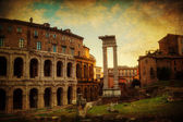 Vintage style texture of the Marcellus Theatre in Rome — Stock Photo