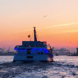 Tourist boat in the harbour of Hamburg, Germany — Stock Photo #54773491