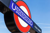 Underground sign in London, UK — Stock Photo