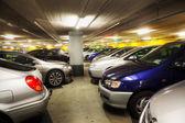 Cars in an underground garage — Zdjęcie stockowe