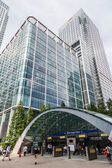 Office buildings at Canary Wharf in London, England — Stock Photo
