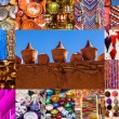 Collage of traditional goods of Marrakech, Morocco — Stock Photo #54863469