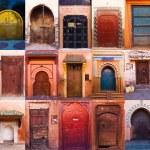 Collage of old doors in Marrakesh — Stock Photo #54864843