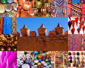 Collage of traditional goods of Marrakech, Morocco — Foto de Stock