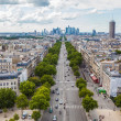 Axe historique viewed from the Arc de Triomphe to the financial district La Defense in Paris France — Stock Photo #54932901
