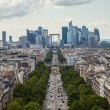 Axe historique viewed from the Arc de Triomphe to the financial district La Defense in Paris France — Stock Photo #54934621