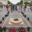Tomb of Unknown Soldier under the Arc de Triomphe in Paris, France — Stock Photo #54934939