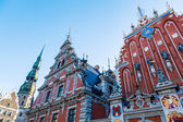 House of the Blackheads in the old town of Riga, Latvia — Stock Photo