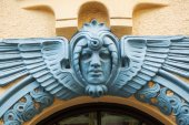Detail of an Art Deco house in Riga, Latvia — Stock Photo