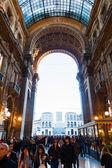 Galleria vittorio emanuele ii em milão, itália — Foto Stock